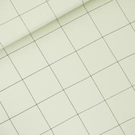 Thin Grid XL Fog Green - french terry