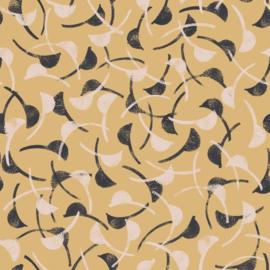 Windy Mustard- viscose stof