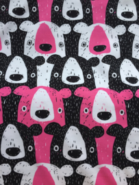 Bears pink - tricot stof