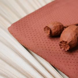 Dobby Chestnut - viscose stof