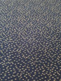 Dotties donkerblauw/bamboo - jacquard stof COUPON