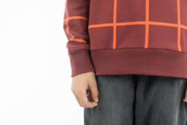 Grid XL Bordeaux - french terry