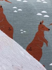 Kangaroo Grey - French terry stof