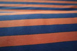 Blauw/oranje gestreept - summersweat