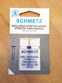 Tweelingnaald smal (2,5/75) STRETCH