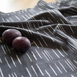 Chalk Charcoal - katoen stof