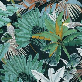 Jungle Green Gables - viscose stof
