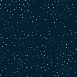 Sparkle Midnight Blue Fabric - katoen stof