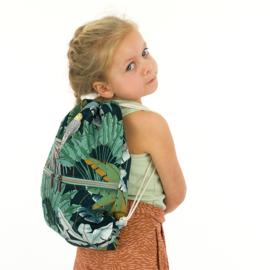 Jungle Green Gables - katoencanvas gabardine twill stof