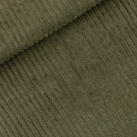 Khaki Brede Rib -  Corduroy stof