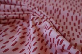 Choc Piek Red - summersweat stof