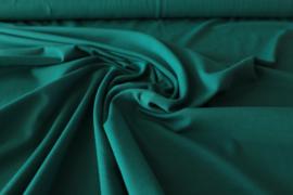 Uni petrolgroen - tricot stof