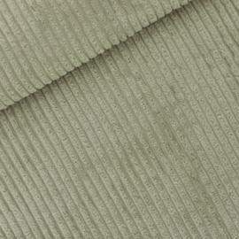 Theegroen Brede Rib -  Corduroy stof