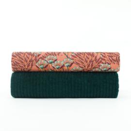 Gilly Flowers Zonnebrand - katoencanvas gabardine twill stof