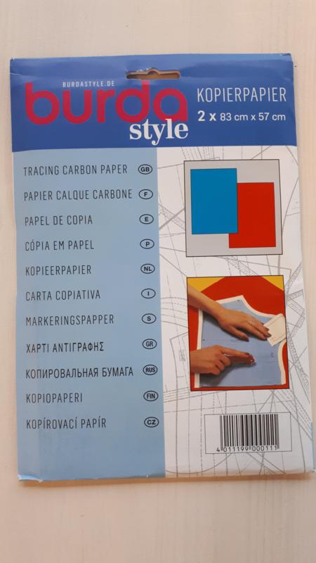 Kleermakerscarbonpapier (rood/blauw)