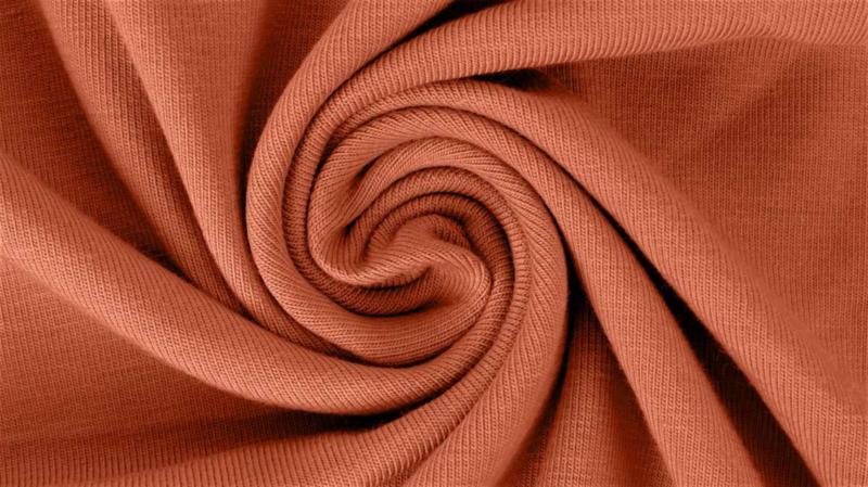 Brique - viscose tricot stof