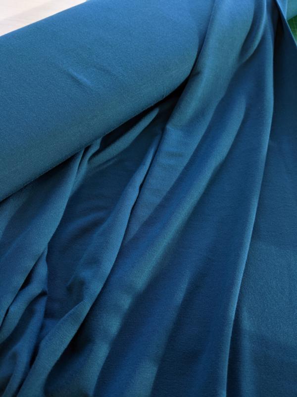 Petrol - viscose tricot stof