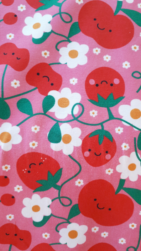 Cute Fruit - tricot stof
