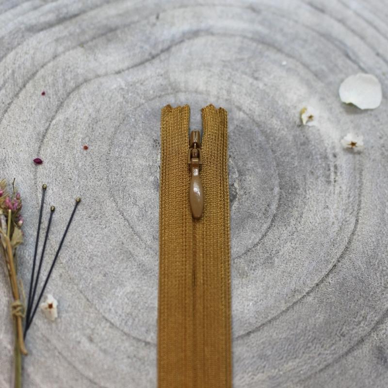 Ochre - blinde rits 20 cm