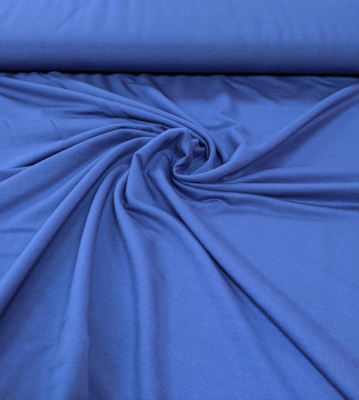 Jeansblauw- modalsweat stof