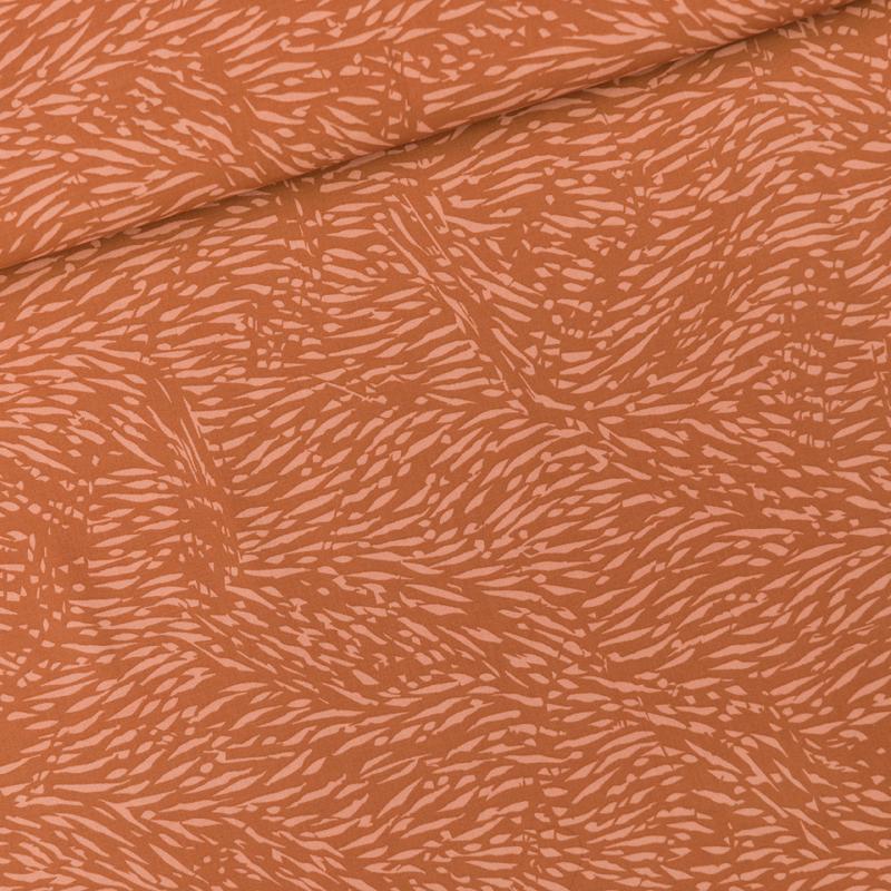 Flecks Amber Brown - viscose stof