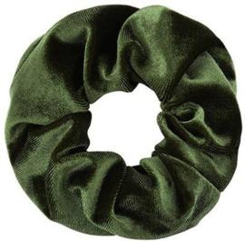 Scrunchie leger groen velvet