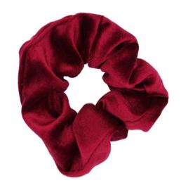 Scrunchie bordeaux rood velvet