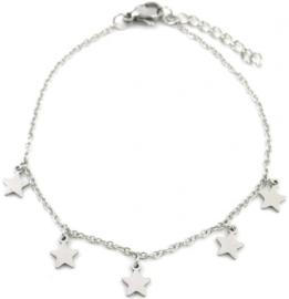 Zilveren armband Stars