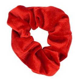 Scrunchie rood velvet