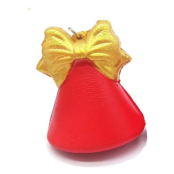 Squishy sleuterhanger Kerstklokje