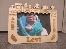 Houten Fotokader met geboortegegevens