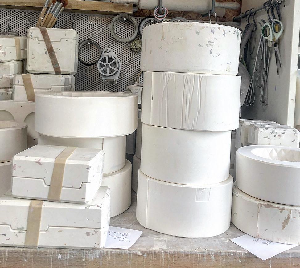 keramiek atelier W - mallen die mee verhuizen