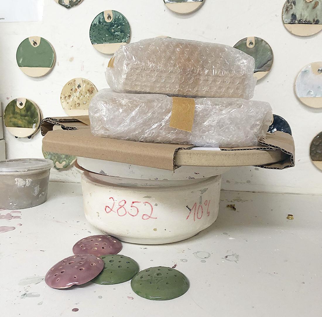 Verhuizing van een keramiek Atelier