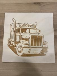 Schilderij vrachtwagen
