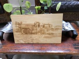 Voorbeeld foto gravering op hout
