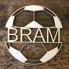 Voetbal met eigen tekst