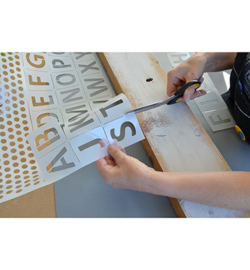 Alphabet blokletters A3  2 delig