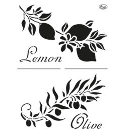Olive & Lemon A4
