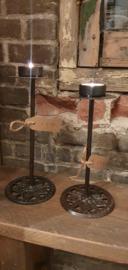 Metalen cup kandelaar waxine M