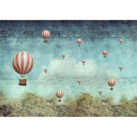 BALLOONS- MINT BY MICHELLE DECOUPAGE PAPIER-A1