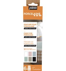 New porselein verf pebeo set pastel 6x20ml gloss