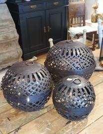 Metalen decoratiebal XL 30cm ○