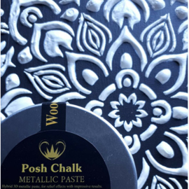 Posh Chalk metalic smooth pasta metalic white