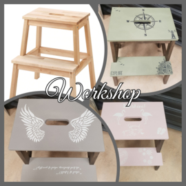 02-03-2020 Workshop opstapje pimpen met Annie Sloan Chalk Paint