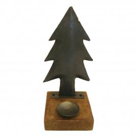 Kerstboom met waxine h 30 cm