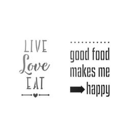 Good food makes me happy A4