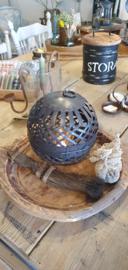 Metalen decoratiebal