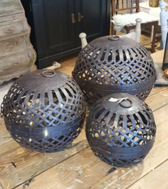 Metalen decoratiebal L 25cm ○