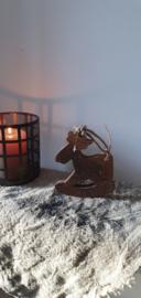 Houten kersthanger hobbelpaard
