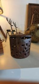 Iron pot roest hoogte 12 cm